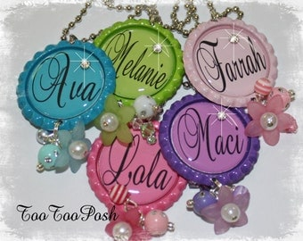 Set of 5  PERSONALIZED Necklace Party Favors
