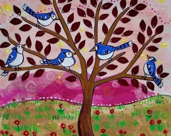 Print : Bluebirds