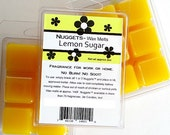 Lemon Sugar Wax Melts, Strong Paraffin wax tarts, citrus scented paraffin wax, Nuggets(tm)