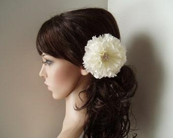 Wedding hair piece Vintage Wedding Hair Flower hairpiece Flower Girl Vintage Wedding Theme Headpiece