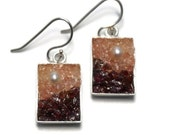 Mosaic Jewelry - Pearl, Garnet and Quartz Drop Earrings