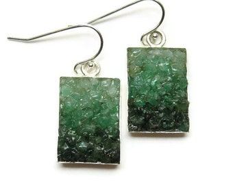 Mosaic Jewelry - Emerald Earrings - Custom Order