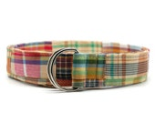 Ladies Brown and Tan Madras Fabric Belt in Custom Sizes Small Medium or Large Preppy D Rings Women's Belt Modern and Preppy 1.5 inch Width