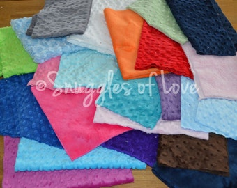 SALE - Minky Destash - Solid Color Minky Fabrics - Minky Scraps - Minky Dot, Minky Plush and Minky Swirl - Choose Your Size Box