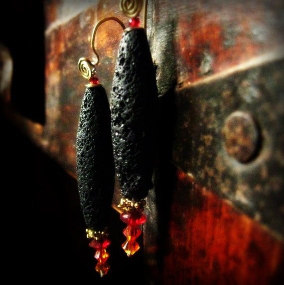 NewFire lava earrings
