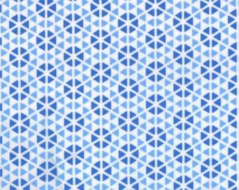 Blue Geometric Hubba Hubba Fabric - Moda - Me and My Sister