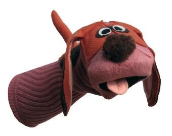 Handmade Sock Puppet Hound Dog