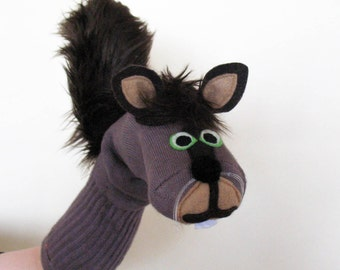 Brown Squirrel Sock Puppet