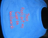 Embroidered Bib for Baby-Backwards Cape- ROYAL BLUE