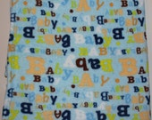 Soft Lightweight Blanket for Baby- Monogrammed with Name-Blue- BABY- Boy-SALE