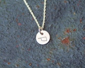 Oklahoma Charm Sterling Silver Hand Stamped State Charm Necklace