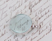 Sterling Silver and Glass Locket Large 1 1/2 inch window