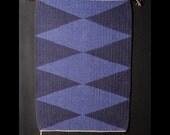 Purple Diamonds Hand Woven Wall Hanging or Rug