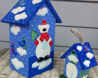 Polar Bears Birdhouse