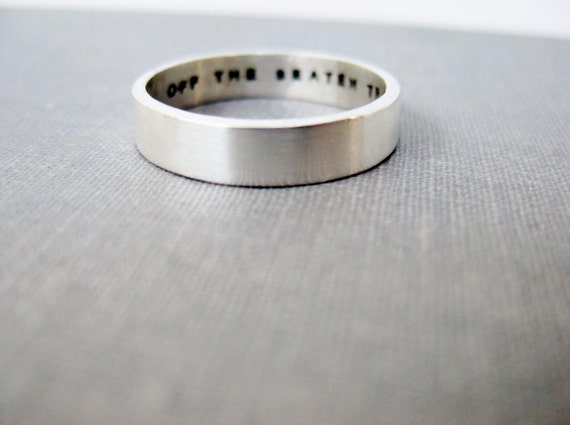 4mm Personalized Ring - Mother's Ring, Unisex Ring, Man's Ring, Graduation Ring, Inspiration Ring, Secret Message Ring