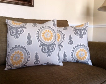 Ikat Pillow Covers -- 18 Inch -- Set of Two