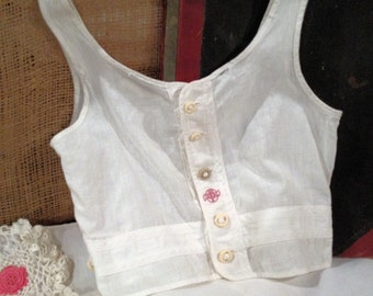 Vintage Undershirt by Ideal Size 6 Children White