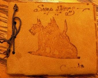 vintage album ...  PHOTOGRAPHS SOUVENIR SCOTTY Dog Canada Leather Album ...
