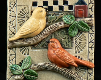Ceramic Tile ,Two Birds