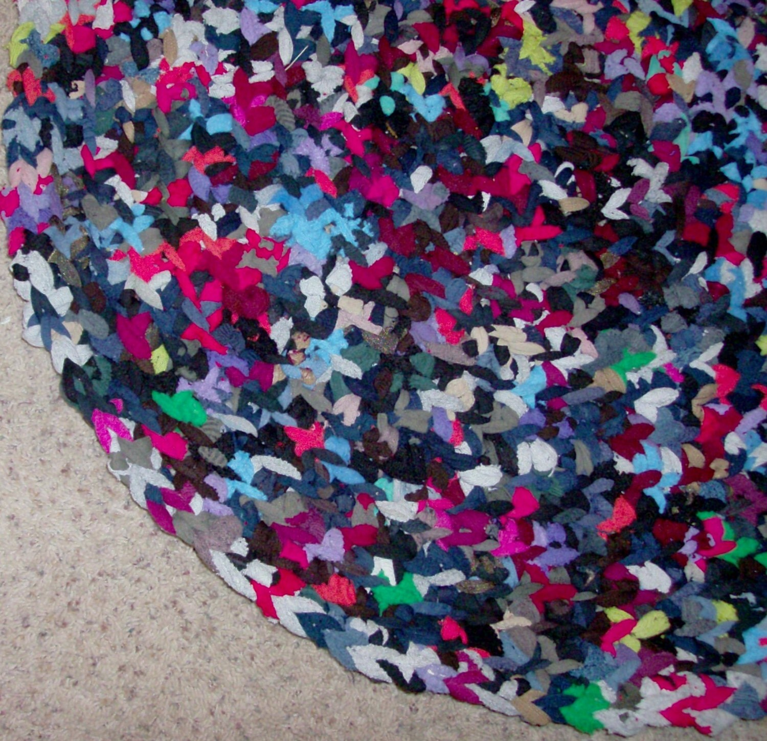 Heavy Multi Color Rag Rug