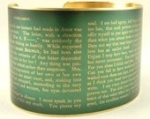 Jane Austen Jewelry - Persuasion Literary Book Quote - I'm Half Agony, Half Hope - Brass Cuff Bracelet