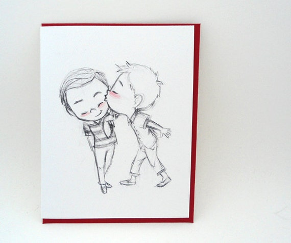 How About A Kiss? Greeting Card