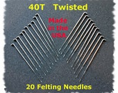 Dream Felt - NEW Twisted (Spiral) Needle Felting Needles 20 - 40T Made in the USA