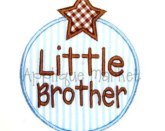 Machine Embroidery Design Applique Little Brother Circle Star INSTANT DOWNLOAD