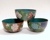 RESERVED FOR KRISTEN Group of 3 Antique Japanese Cloisonne Bowls