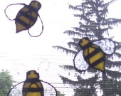 Stained Glass Bumble Bee Skreen Sav'rs..Set of Three