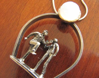 Dancing in the Moonlight -  Silver Dancers, Moonstone, Sterling Silver
