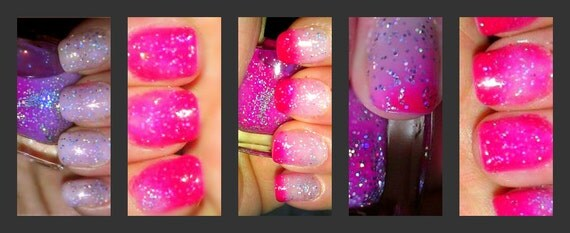 Color Changing Glitter Nail Polish Mood Nail By Bigtranchsoap
