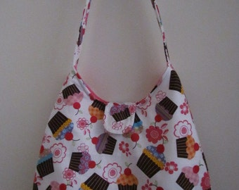 Sale - Cupcakes and Flowers Purse