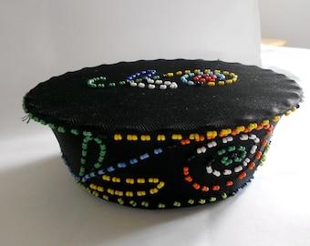 Girls Zulu hat with beads