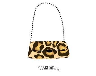 Birthday Card with leopard handbag/Inside: Get Crazy on Your Birthday!