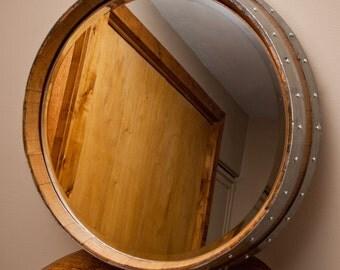 Napa Valley Wine Barrel Mirror