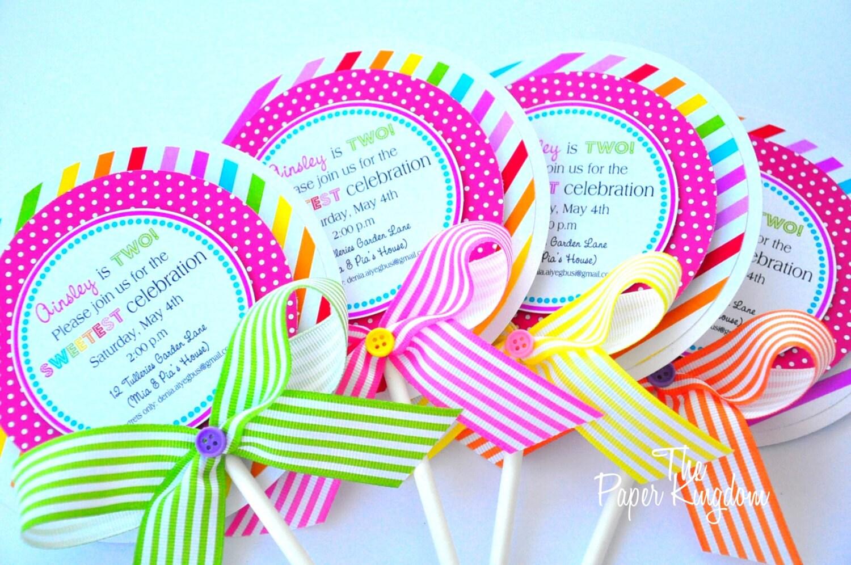 Candyland invitation – Candy Land Birthday Invitations