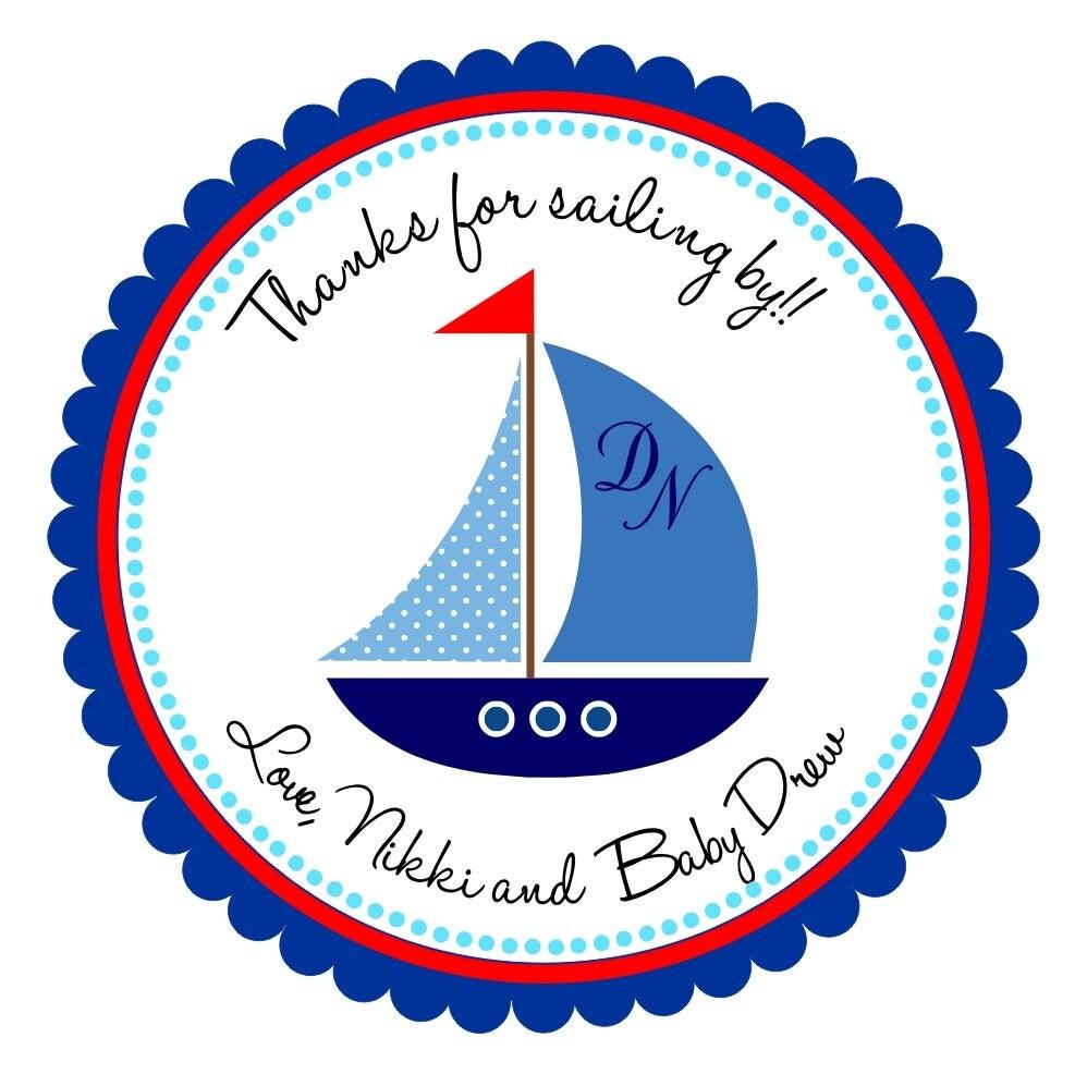 Velero etiquetas personalizadas de náuticas náuticos Baby