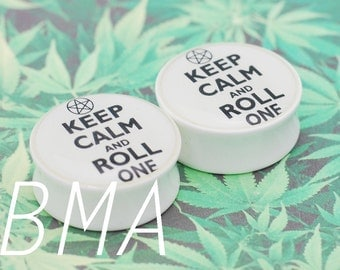 "Keep Calm and Roll One BMA Modified Plugs 9/16"" (14mm) Pair"