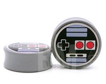 10g (2.5mm) Oldskool Video Game Controller BMA Plugs Single Flare Pair