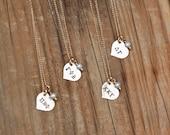 Sorority Necklace Petite Gold Heart - Sorority Jewelry, Big Sis Lil Sis Jewelry Bid Day Gift Initiation Gift, Sorority Graduation Gift