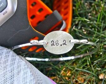 26.2 Marathon Bracelet Sterling Silver - Runner Jewelry Marathon Bracelet Runner's Inspiration Marathon Inspiration Runner's Gift