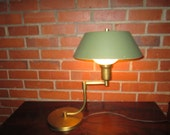 Vintage Exceptional Modernist Heavy Metal Swing Arm Lamp
