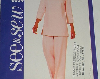 Easy Tunic Top Pants 18 20 22 Butterick 6914