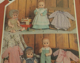"Baby Doll Pattern 13"" and 14"" Size Simplicity 5615"