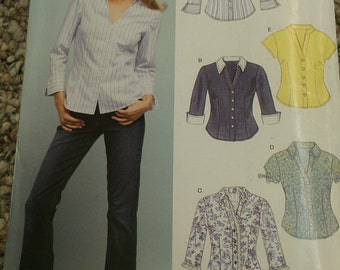 Easy Fitted Blouse with Neckline and Sleeve Options 10 12 14 16 18 20 22 New Look 6407