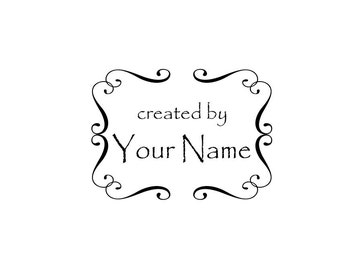 Personalized Custom Made Name Unmounted Rubber Stamps C03
