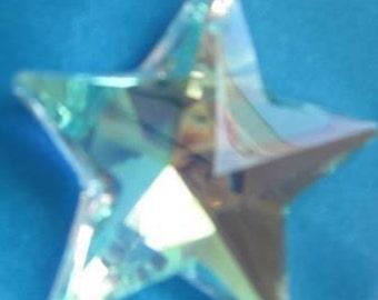 shinning star shaped prism with aurora borealis finish