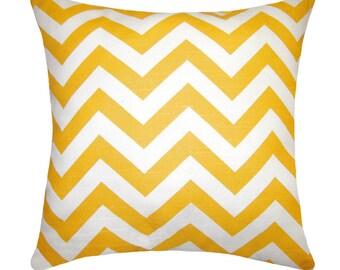 Zig Zag Corn Yellow Chevron Decorative Pillow Free Shipping
