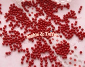 2mm Red Round Faux Fake Pearls Beads - 400pcs / Fake Toppings for Fake Food